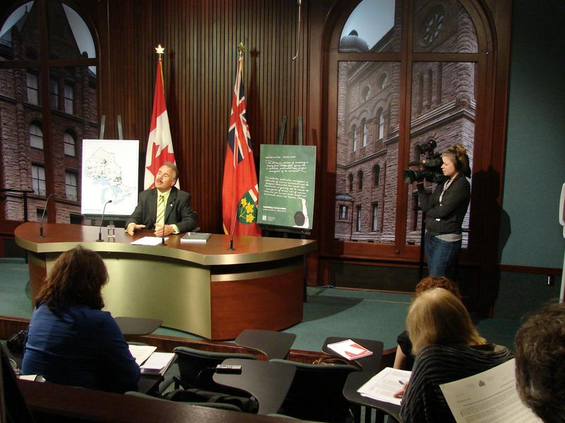 Environmental Commissioner releasing 2009/2010 annual report...